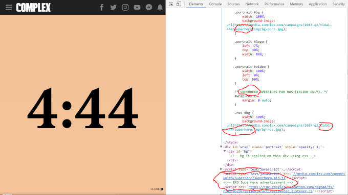 4:44 source code on Complex dot com