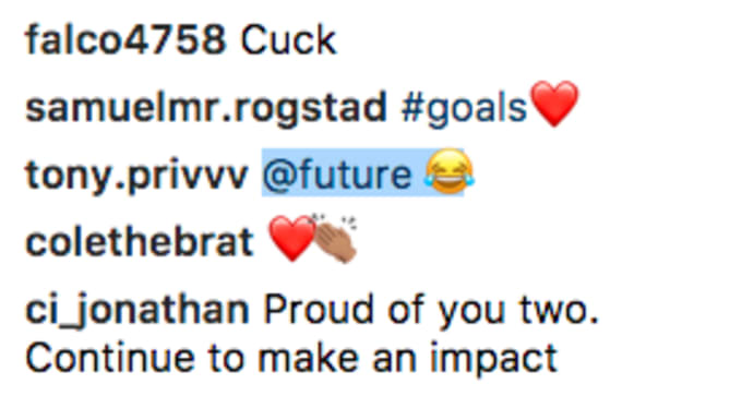future comments on russ instagram
