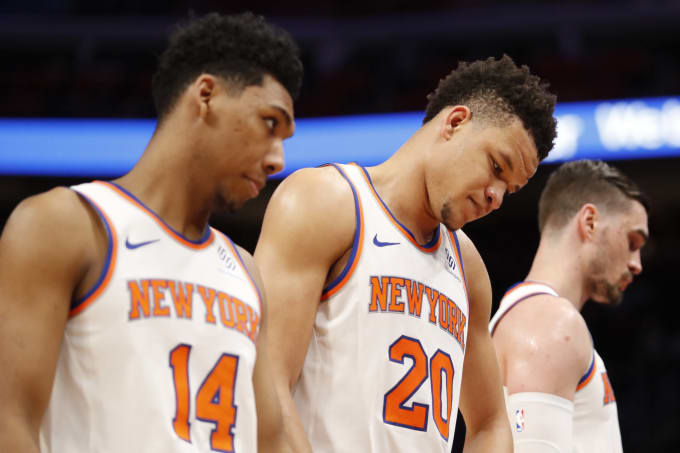 Kevin Knox Allonzo Trier Knicks Pistons 2019