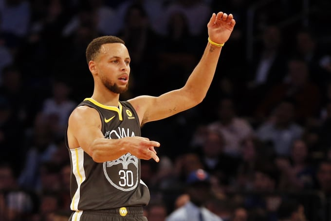 Steph Curry Warriors Knicks 2018 2 MSG