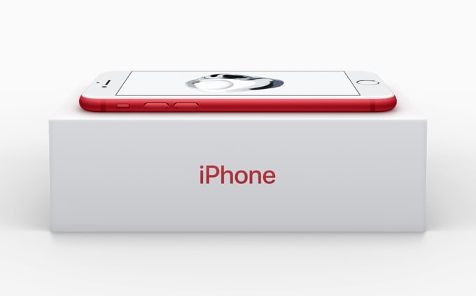 Apple red iPhone