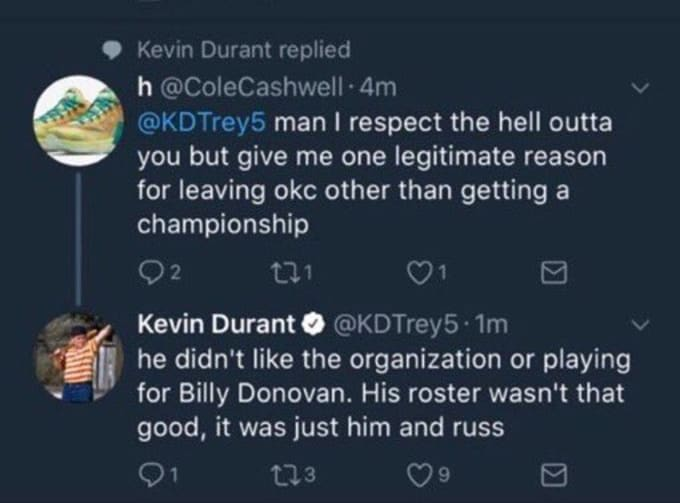 kevin durant on twitter