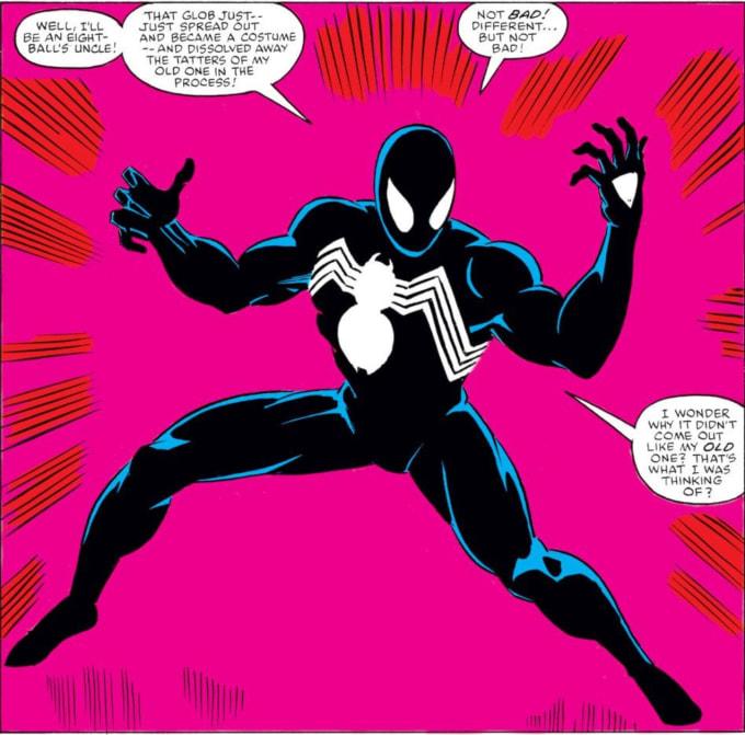 Spider-Man in the black suit/symbiote