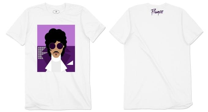Prince 'Purple Rain' Avatar t-shirt (in white)