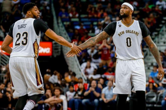 Anthony Davis DeMarcus Cousins 2017 Pelicans Bulls