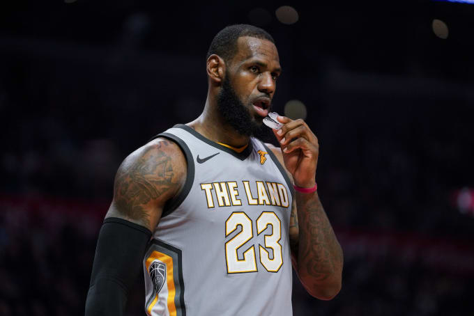 LeBron James Staples Center Mouthguard 2018