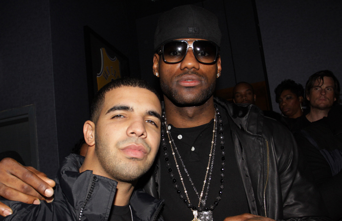 5234531970bcbc February 2009  LeBron attends Drake s  So Far Gone  release party