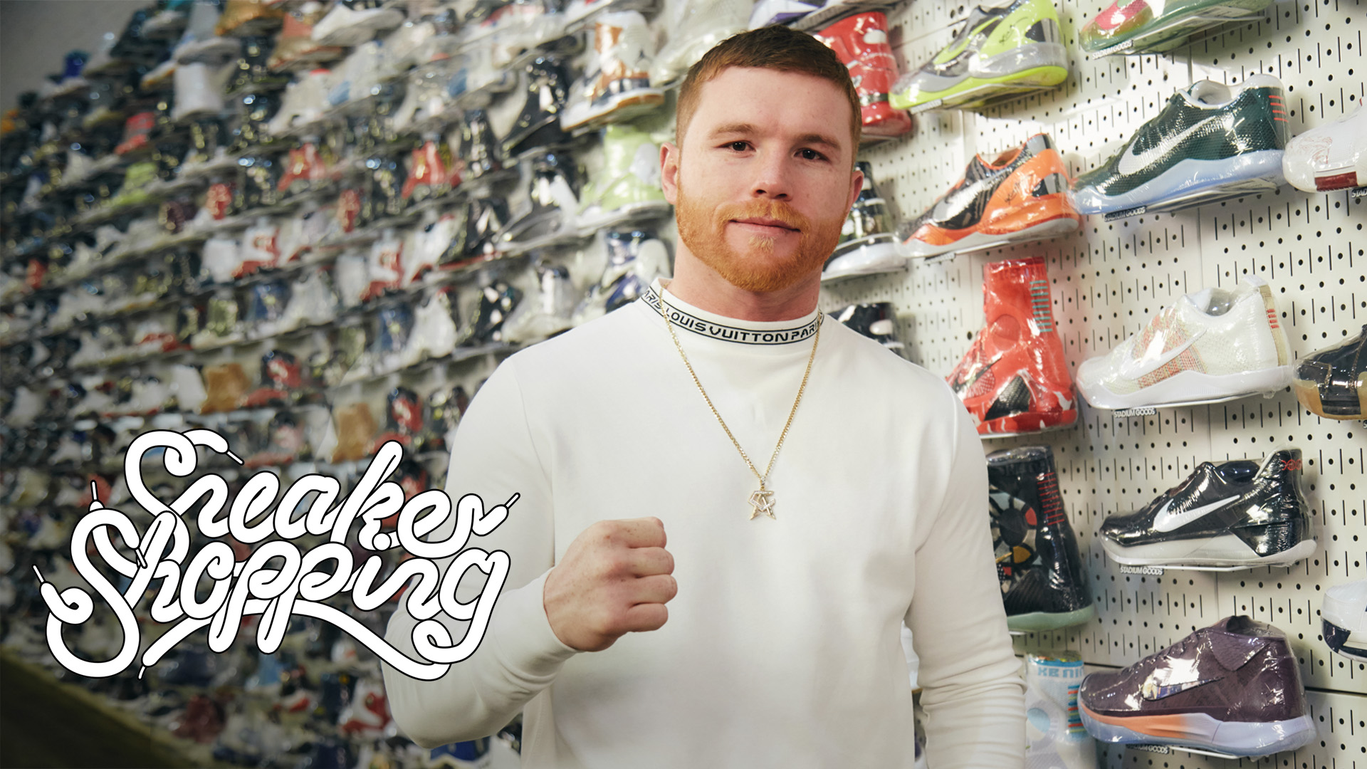3760dd74451 Canelo Àlvarez Goes Sneaker Shopping With Complex