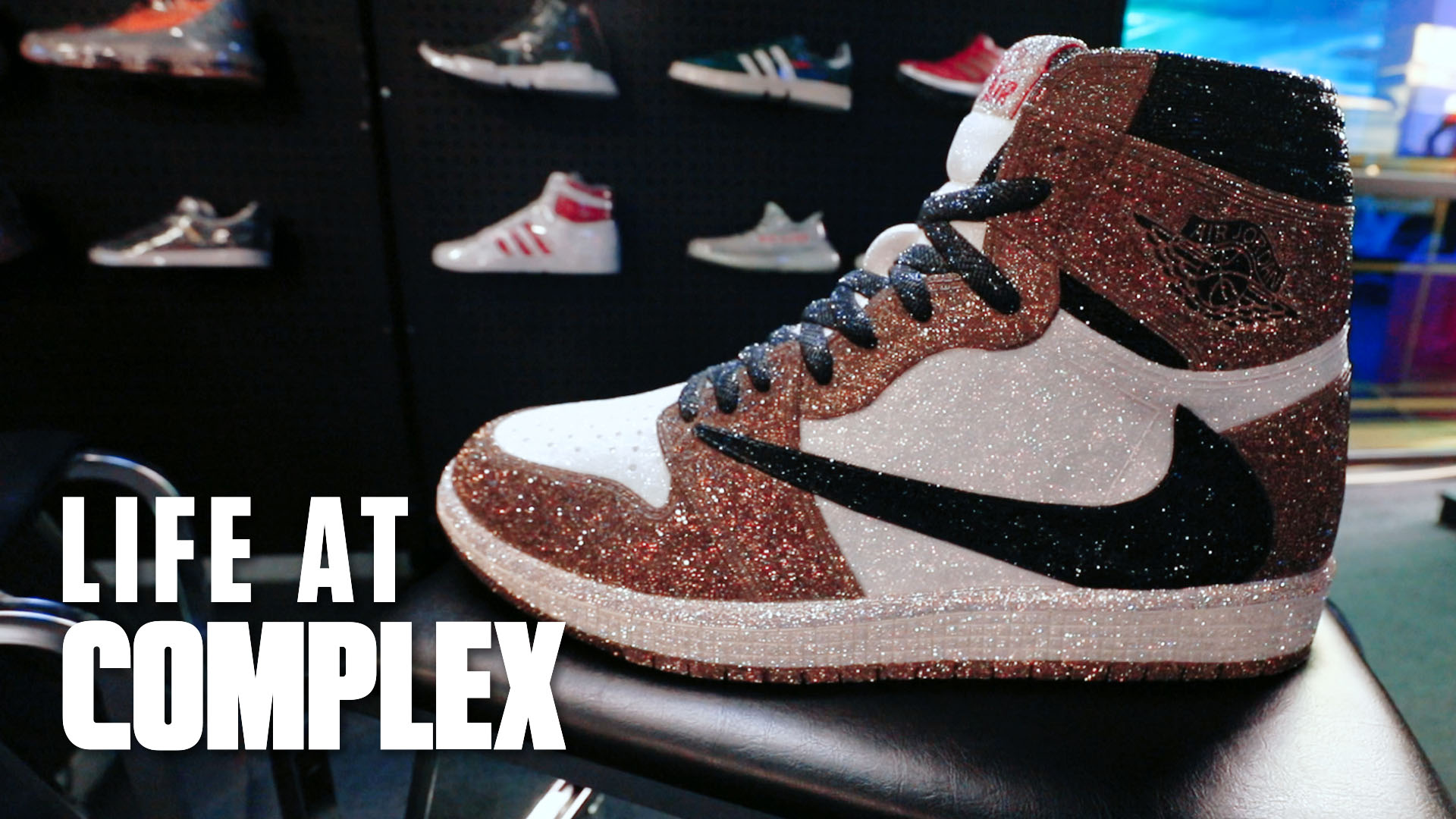 the latest 92180 e50eb Travis Scott Air Jordan 1 Art Piece For $75,000! | Life At Complex