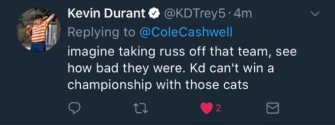 kevin durant alt account twitter