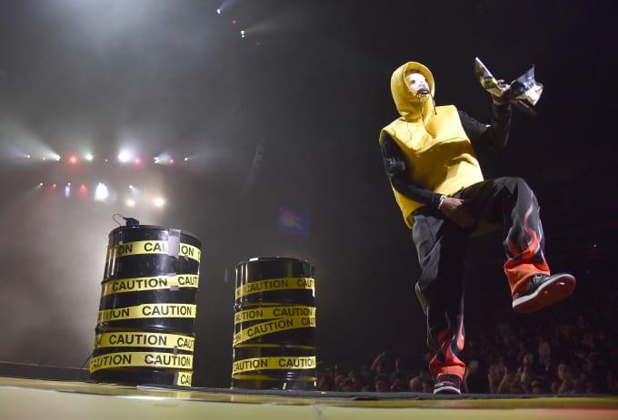 ASAP Rocky Performing in Air Jordan 1
