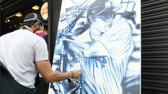 Andre Trenier Mural Gary Sanchez Opening Day 2017