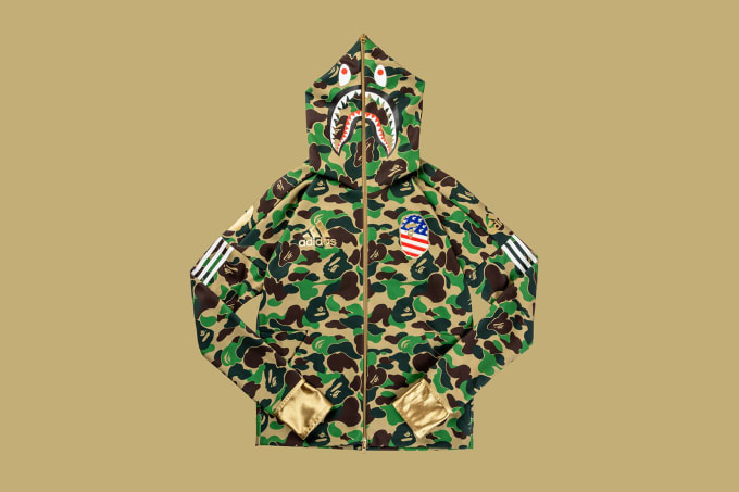 Adidas Football by Bape Shark Hoodie 'Green'