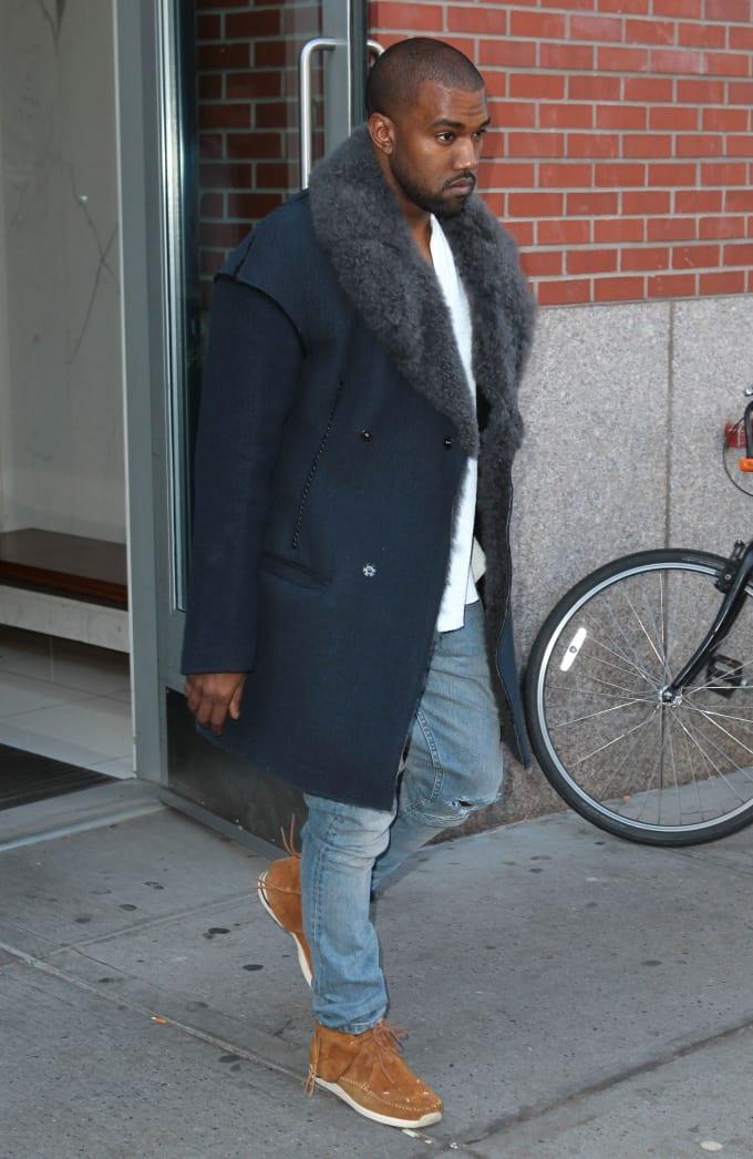 Kanye West wearing Visvim FBT Sneakers