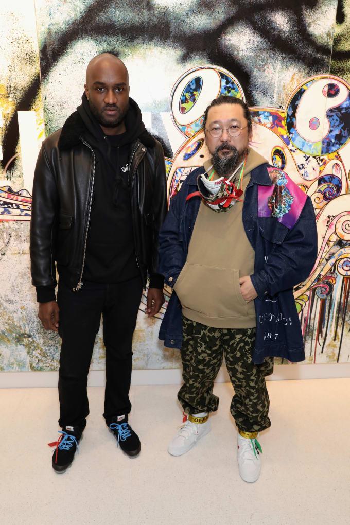 Virgil Abloh with Takashi Murakami