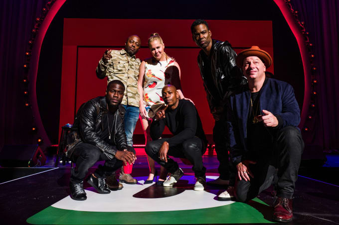 Kevin Hart, Donnell Rawlings, Amy Schumer, Dave Chappelle, Chris Rock