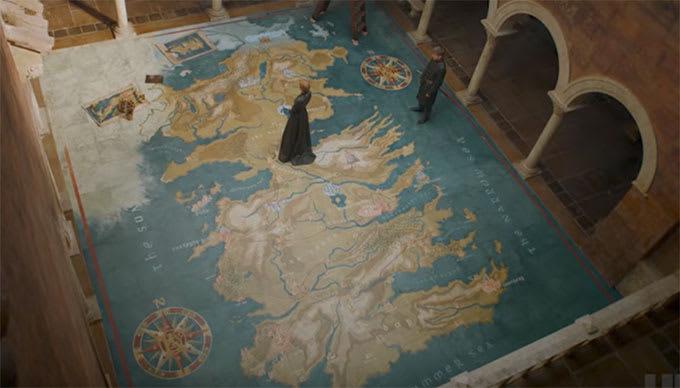 its a big map