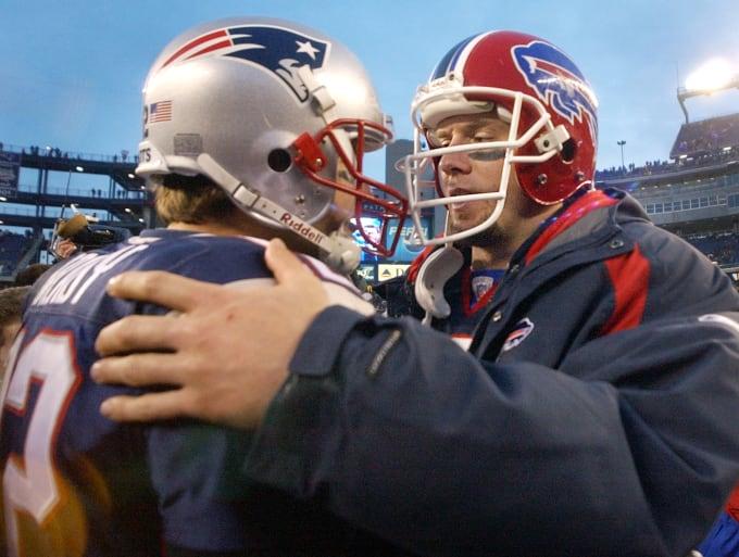 Tom Brady Drew Bledsoe 2002 Getty