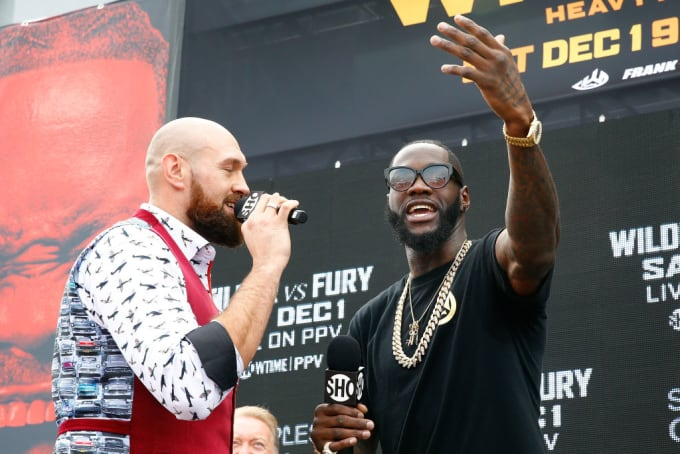 Tyson Fury Deontay Wilder New York Promotion 2018