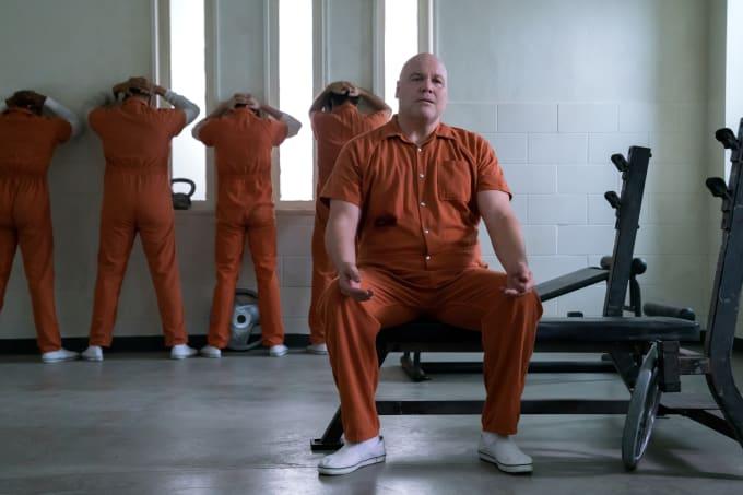 Wilson Fisk (in jail) in season 3 of 'Daredevil'