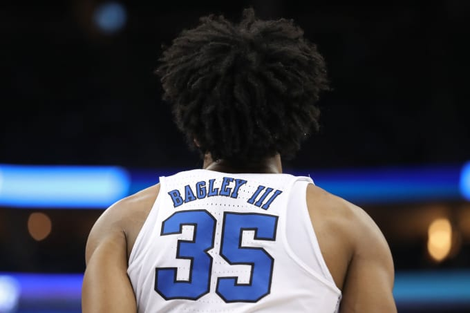 Marvin Bagley NCAA Tournament 2018 Back of Jersey