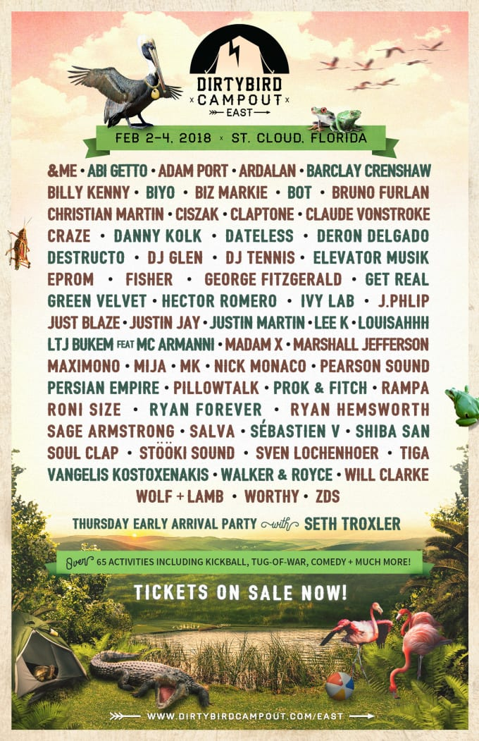 Dirtybird Campout East Coast lineup