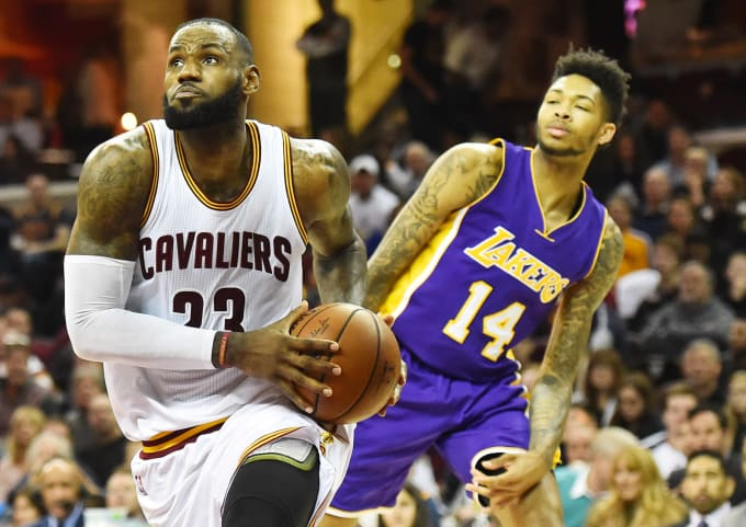 LeBron James Brandon Ingram Cavs Lakers 2016