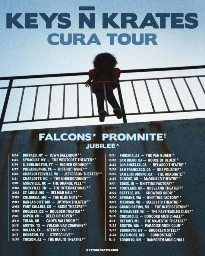 Keys N Krates 'CURA' Tour poster