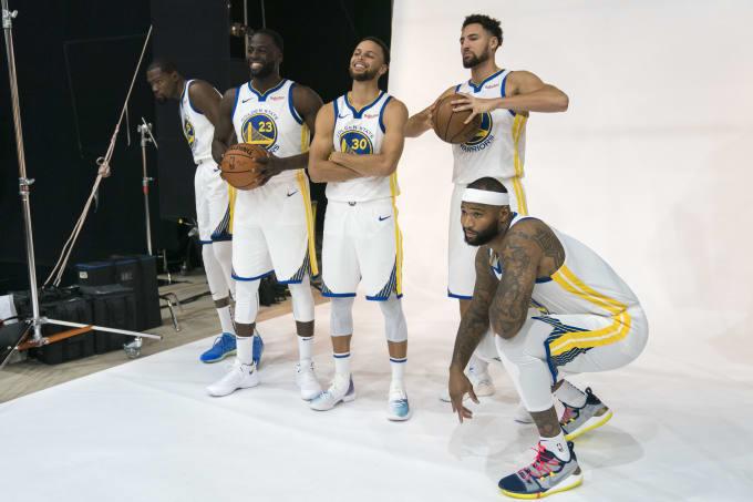 Warriors Steph Draymond Klay Durant Cousins 2018 Preseason