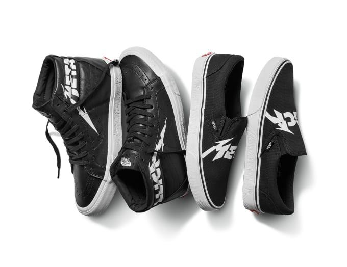 3e33e33eb1 Vans   Metallica Launch Their Exclusive Footwear   Apparel ...