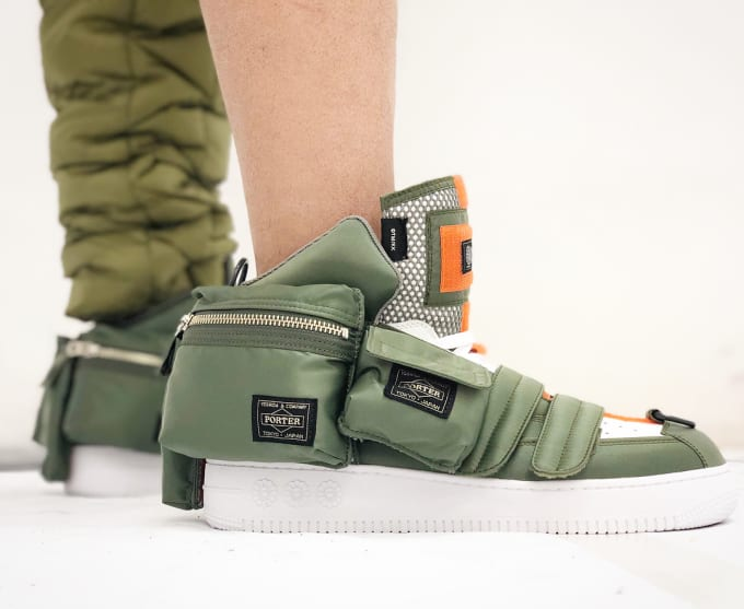 Porter x Takashi Murakami Sneaker (On-Foot Lateral)