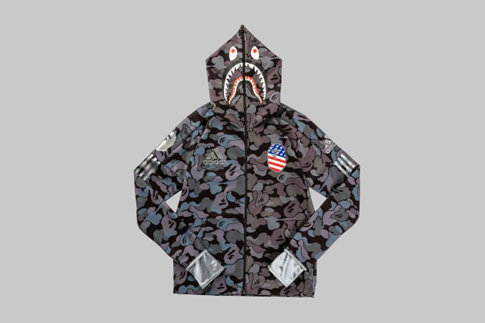 Adidas Football by Bape Shark Hoodie 'Black'