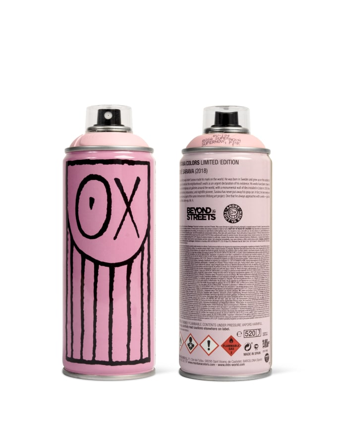 André Saraiva spray paint can for Beyond The Streets.