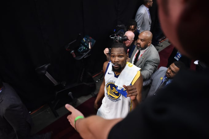 Kevin Durant Tunnel Game 3 NBA Finals 2018