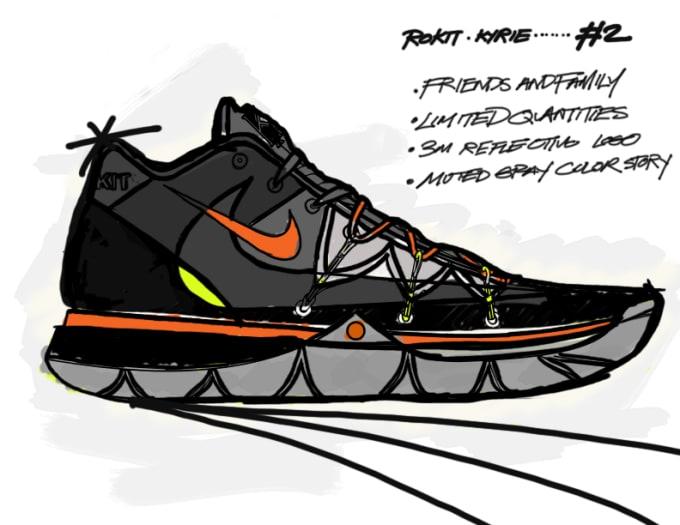 Rokit x Nike Kyrie 5 Friends and Family Sketch