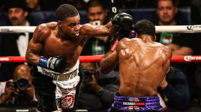 Errol Spence Lamont Peterson Barclays 2018 Getty
