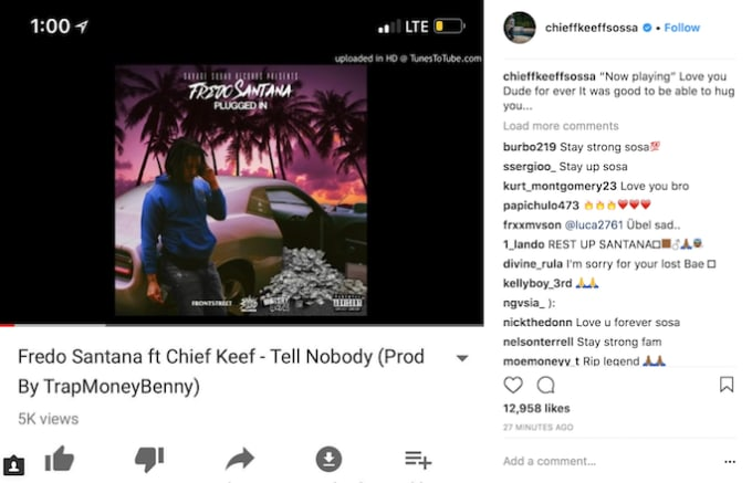 Chief Keef's tribute.