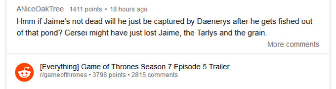 Here's Reddit's Theory About What's Next For Jaime Lannister