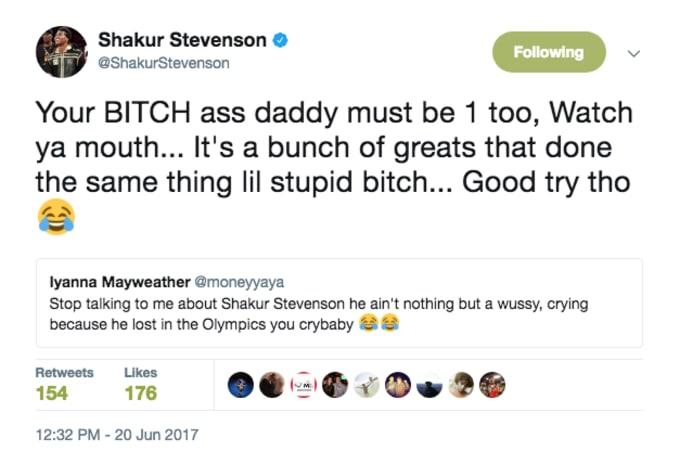 Shakur Stevenson deleted tweet 1.