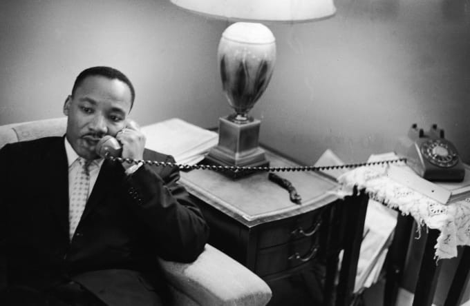 Dr. Martin Luther King, Jr. on the phone