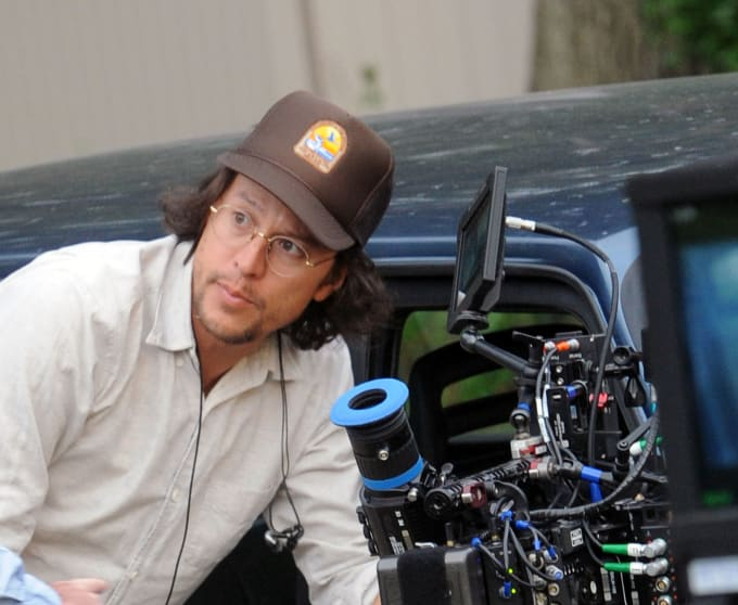 Cary Fukunaga on the set of the Netflix series 'Maniac'