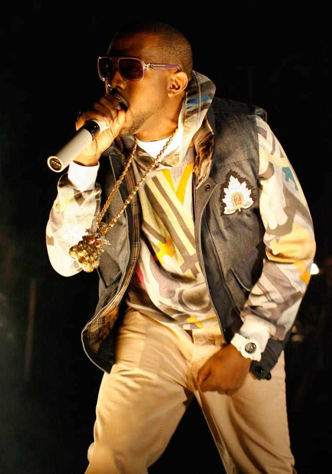 Kanye West in Louis Vuitton Millionaire sunglasses