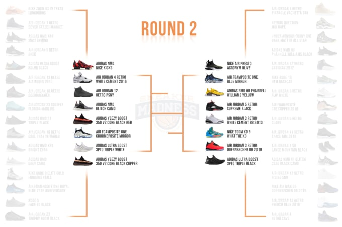 hot sale online 8fa88 07ea8 Complex Sneakers x StockX Sneaker Madness Round 2 Bracket ...
