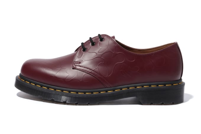 Bape x Dr. Martens 1461 'Red' (Lateral)