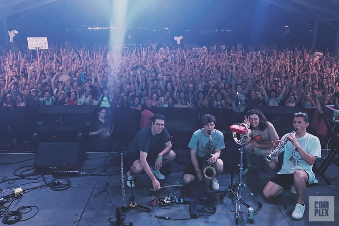 BADBADNOTGOOD during their Bonnaroo 2017 performance.
