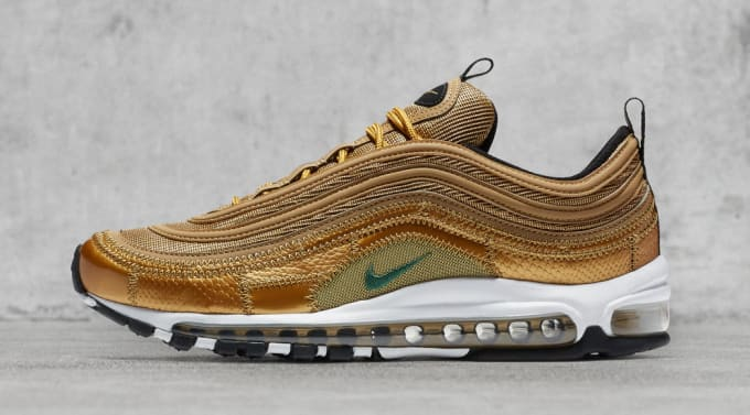 huge selection of 3a0de 64518 Nike Air Max 97 aq0655-700 Cristiano Ronaldo Gold Patch