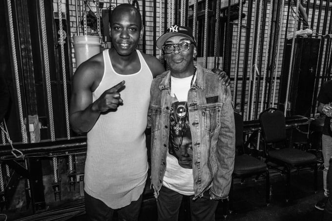 Dave Chappelle with auteur and prolific filmmaker Spike Lee backstage at Radio Music City Hall
