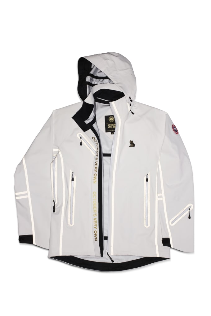 Canada Goose x OVO Timber Shell in white.