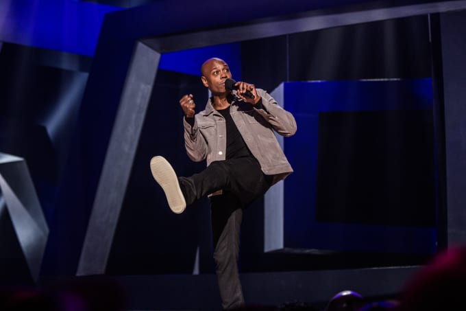 Dave Chappelle recording Netflix special 'Equanimity'