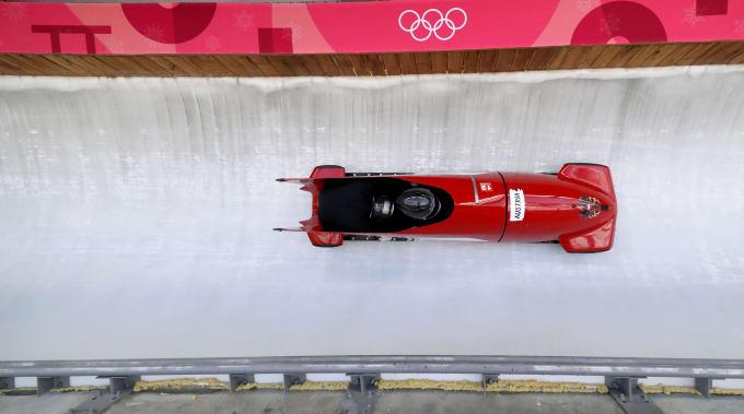 Bobsled Practice Pyeongchang 2018